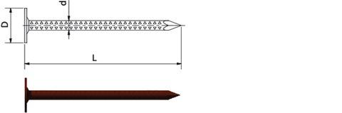 Weißenfelser Schiefernagel 2,8x45mm großer Kopf 2,5kg je Paket Europanorm EN 10230-1 Kupfer