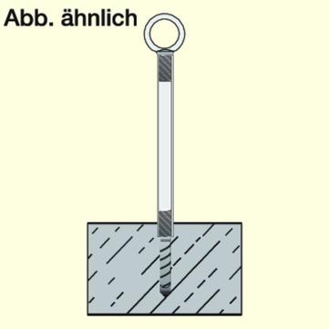DWS Pohl Absturzsicherung Secupoint 400A Bauart A Betondecke mit Befestigung Edelstahl V2A