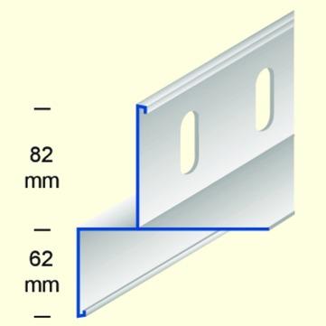 DWS Pohl Kiesfangleiste KFL80 gestanzt 4,0 m Alu