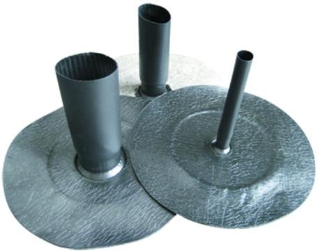 Pohl DWS Anschlussmanschette Secufix 56mm 1-teilig für Absturzsicherung Bitumen