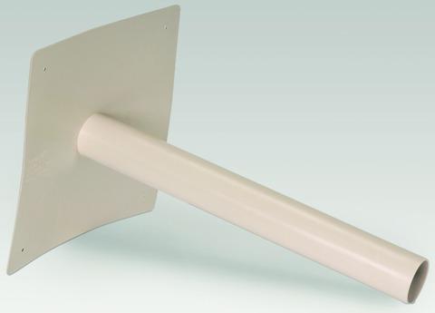 Sika Notüberlauf Speier DN125 mm Sarnafil rund mit geradem Tablett 300x300 mm Beige