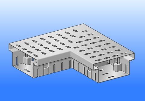 SM Systeme Rinne Eckstück 90 Grad 2x250mm Flachdachrinne mit 1 Steckverbinder Aluminium