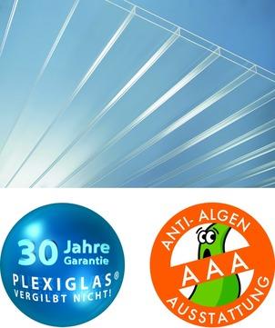 ThyssenKrupp Plastics Stegdoppelplatte 16-64x 980x3000 mm Plexiglas XT RESIST no drop Farblos