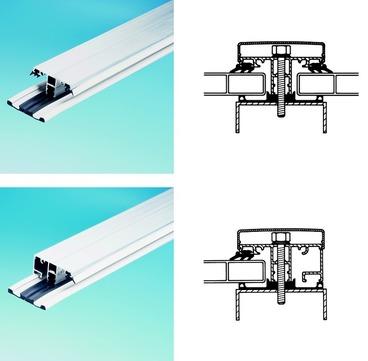 ThyssenKrupp Plastics Oberprofil 8213/2 60x6000 mm ALWO-Komplettsprosse 16 mm Blank