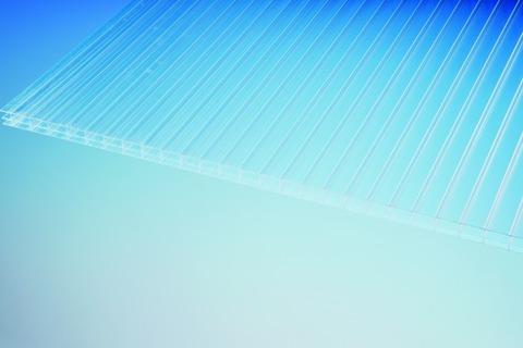 ThyssenKrupp Plastics Stegplatte S3P 16x1200x3000mm LEXAN Thermoclear Plus beidseitig UV-Schutz Klar