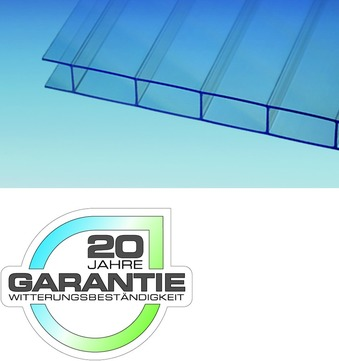 ThyssenKrupp Plastics Stegdoppelplatte 16-30x 980x7000 mm Makrolon MULTI einseitig UV-Schutz Farblos