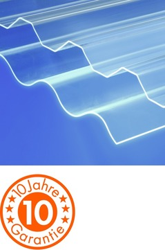 ThyssenKrupp Plastics Wellplatte Polycarbonat 0,8x1140x2000 mm MARLON CS Longlife 76/18 mm Sinus glatt Farblos