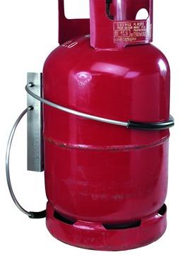 Dolezych Gasflasche Transport Sicherung stehend geeignet für 5 und 11 kg Gasflasche
