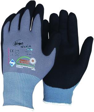 Intra Handschuh Ninja Maxim Gr. 10 AHS Nitril PU-Beschichtung HR+FR frei Grauschwarz