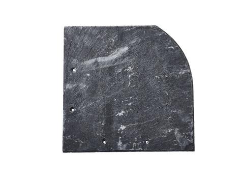 Magog Schiefer Bogen 30x30 cm links gelocht rechte Deckung Schiefergrube C83