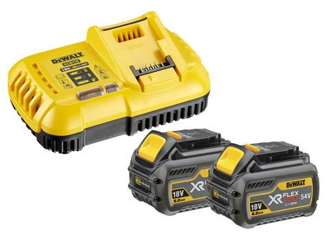 Stanley-Dewalt Akku-Starter-Kit DCB118T2 54,0 Volt / 18,0 Volt 6,0Ah XR FlexVolt