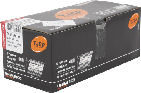KYOCERA UNIMERCO Ringnagel GF28/50 1200 Stück Nr. 833050 Rille Rundkopf Feuerverzinkt