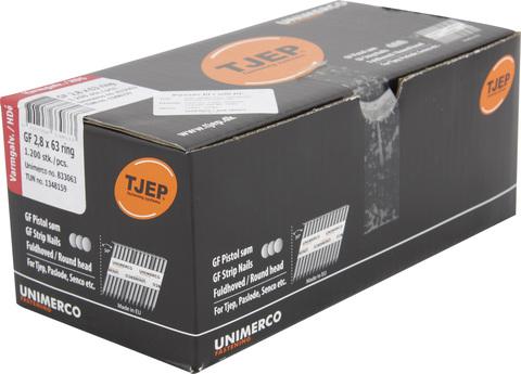 KYOCERA UNIMERCO Ringnagel GF28/63 1200 Stück Nr. 833063 Rille Rundkopf Feuerverzinkt