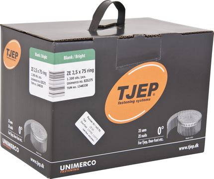 KYOCERA UNIMERCO Ringnagel ZE25/75 1300 Stück Nr. 835275 Rille Rundkopf Blank