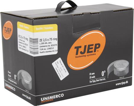 KYOCERA UNIMERCO Ringnagel ZE25/75 1300 Stück Nr. 835375 Rille Linsenkopf Edelstahl V4A