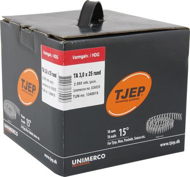 KYOCERA UNIMERCO Ringnagel TA30/25 2880 Stück Nr. 836025 glatt Rundkopf Feuerverzinkt