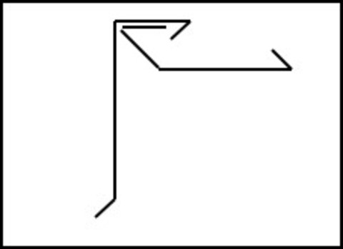 Raku Ortgangschindelblende 2-teilig schiefergrau 0,75 mm, 2 m Komplettsystem Verzinkt