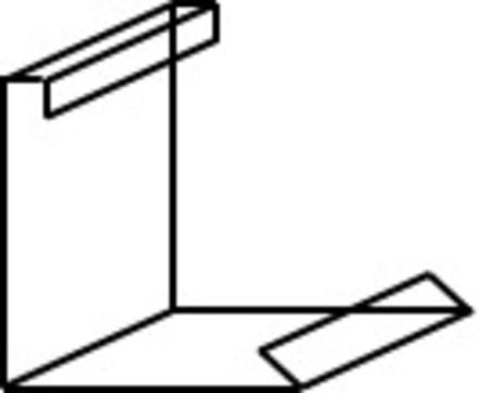 Raku Kiesfangleistenverbinder 100 mm Montage außen Alu