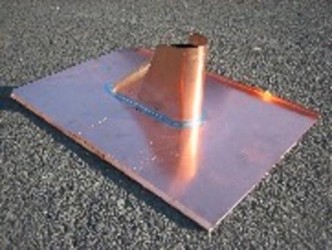 Raku Antenneneinfassung 2-teilig 30x40/45x50 cm Kupfer