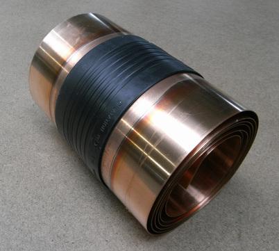 Raku Dehnfugenband 360/0,6 mm 6 m doppelseitig vulkanisiert Kupfer