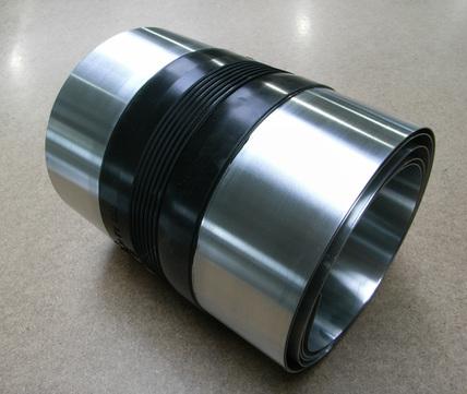 Raku Dehnfugenband 390/0,7 mm 3 m doppelseitig vulkanisiert Titanzink