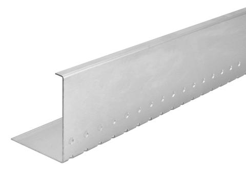 Raku Kiesleiste 100 mm 2 m 1,5 mm einfach, Rundloch Aluminium