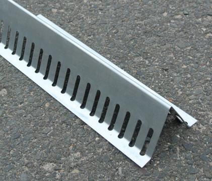 Raku Kiesleiste 35 mm 2 m dreieckig mit Rundloch Zink