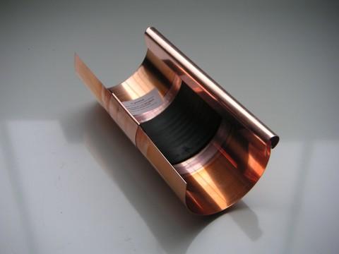 Raku 7-teilige Rinnendila halbrund 0,60 mm 30 cm einseitig vulkanisiert Kupfer