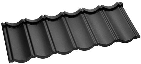 Onduline Ravenna Plus Dachpfanne 6-modulig perliert 1208x445 mm Schiefergrau