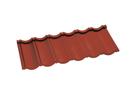 Onduline Ravenna Dachpfanne 6-modulig perliert 1208x445 mm Korallenrot