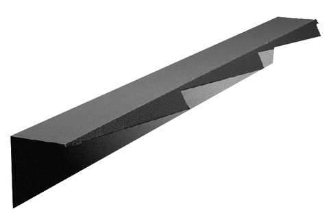 Onduline Ravenna Randkappe 3-modulig links 1250 mm perliert Schiefergrau
