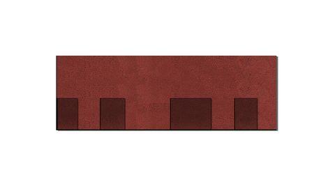 Onduline Bitumenschindel Pro Opera Bardoline Pro laminiert 99,8x33,7 cm Rot