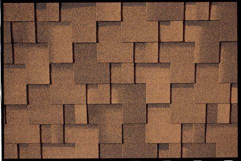 Onduline Bitumenschindel Pro Design Bardoline Pro Mosaikform 100x33,7 cm Braun