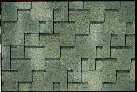 Onduline Bitumenschindel Pro Design Bardoline Pro Mosaikform 100x33,7 cm Grün