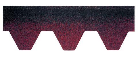 Onduline Bitumenschindel Pro Hexagonal Bardoline Pro Mosaikform 100x33,7 cm Rot