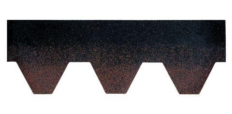 Onduline Bitumenschindel Pro Hexagonal Bardoline Pro Mosaikform 100x33,7 cm Braun