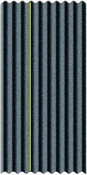 Onduline Onduline-T Bitumenwellplatte 2000x 950 mm Schwarz