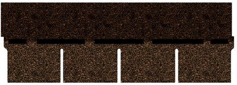 Onduline Bitumenschindel Pro Rechteck Bardoline Pro 100x34 cm Braun geflammt
