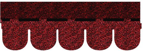 Onduline Bitumenschindel Classic Biber Bardoline Classic 100x34 cm Rot geflammt