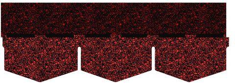 Onduline Bitumenschindel Classic Dreieck Bardoline Classic 100x34 cm Rot geflammt