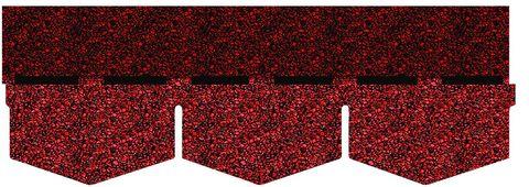 Onduline Bitumenschindel Pro Dreieck Bardoline Pro 100x34 cm Unirot
