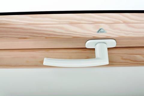 Roto Zubehör ZUB Griff GRF Wohndachfenster WDF R6/R8 H WSAR8 H Designo Standardgriff Weiß