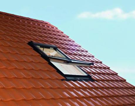 Roto Wohndachfenster Tronic R69PH natur WD 07/14 Solar Funk Alu Designo 3Premium Schwingfenster Holz