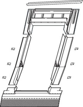 Roto Eindeckrahmen wärmegedämmt EDW 1x1 055/098 P Q4 Plus/QT4 Tronic Plus V20 Austauschfenster Aluminium