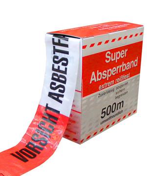 DESABAG Absperrband 500 m mit Asbestdruck