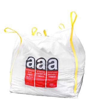 DESABAG Big Bag 110x110x115 cm beschriftet Warndruck Asbest