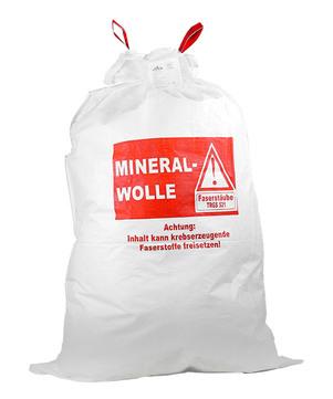 DESABAG Gewebesack 140x220 cm beschriftet Warndruck Mineralwolle