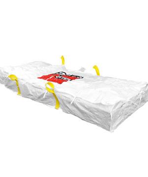 DESABAG Plattenbag 320x125x30 cm beschriftet Warndruck Asbest