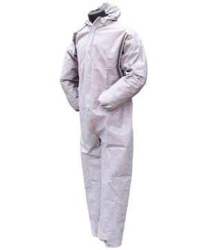 DESABAG Einwegschutzanzug Gr. L Kategorie 3 Typ 5 + 6 Standard Weiß