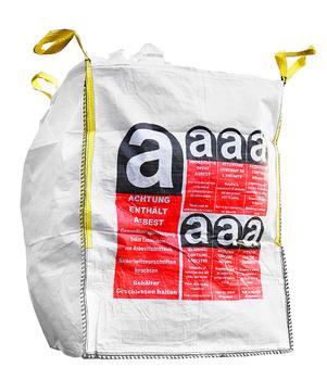 DESABAG Big Bag 90x 90x110 cm beschriftet Warndruck Asbest